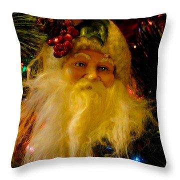 Ho Ho Ho Merry Christmas Throw Pillow by Al Bourassa