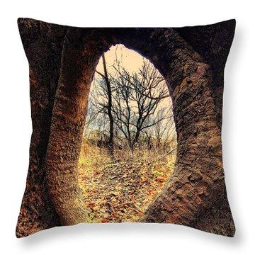 Hobbitt Vip Entrance Throw Pillow by Robert McCubbin