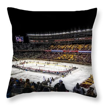 Hockey City Classic Throw Pillow by Tom Gort