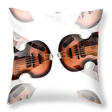 Hofner Bass Abstract Throw Pillow by Bill Cannon