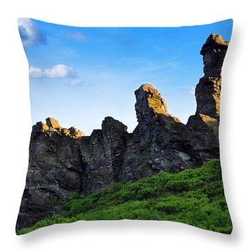 Hoher Stein Kraslice Czech Republic Throw Pillow by Aged Pixel