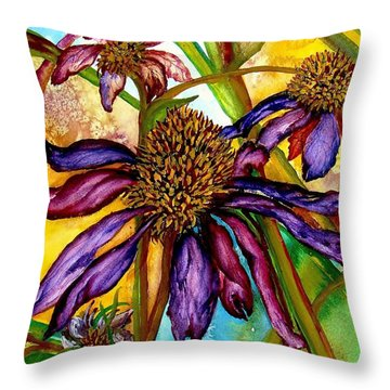 Holding On To Summer Sold Throw Pillow by Lil Taylor