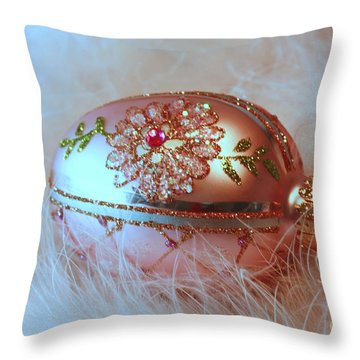 Holiday Greetings From Days Past  Throw Pillow by Inspired Nature Photography Fine Art Photography