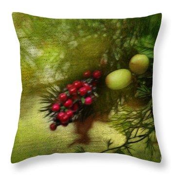 Holiday Season Throw Pillow by Judi Bagwell