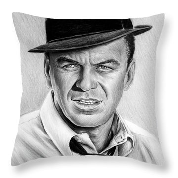 Hollywood Collection Ole Blue Eyes Throw Pillow by Andrew Read