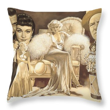 Hollywoods Golden Era Throw Pillow by Dick Bobnick
