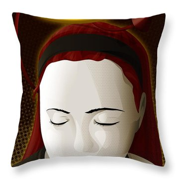 Holy Mary Throw Pillow by Sandra Hoefer