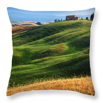 Home On The Hill Throw Pillow by Inge Johnsson