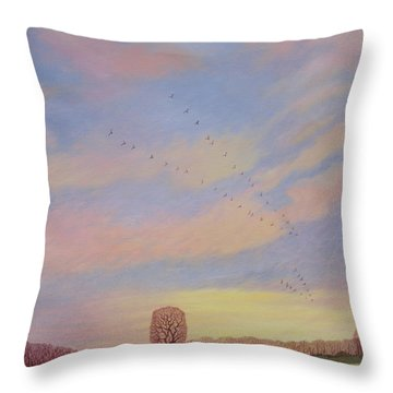 Homeward, 2004 Oil On Canvas Throw Pillow by Ann Brain