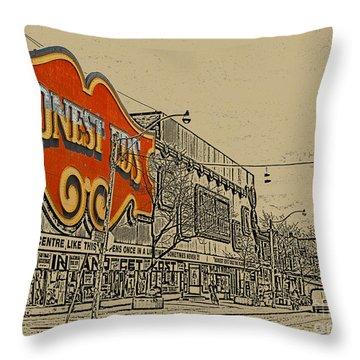 Honest Eds On Markham Street Throw Pillow by Nina Silver
