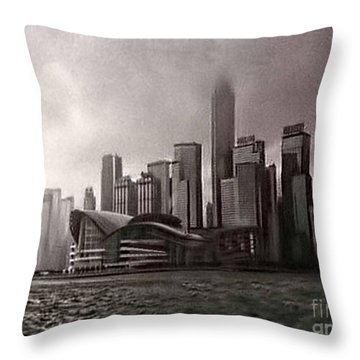 Hong Kong Rain 5 Throw Pillow by Tom Prendergast