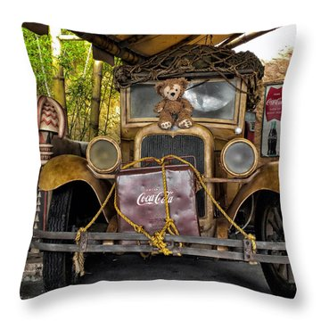Hood Ornament Bear 2 Throw Pillow by Thomas Woolworth
