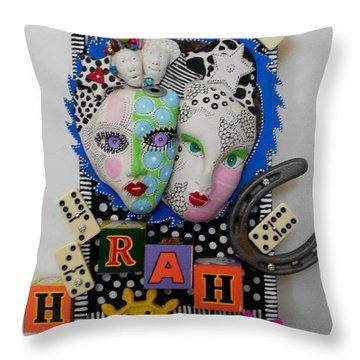 Hoorah For Everything Throw Pillow by Keri Joy Colestock