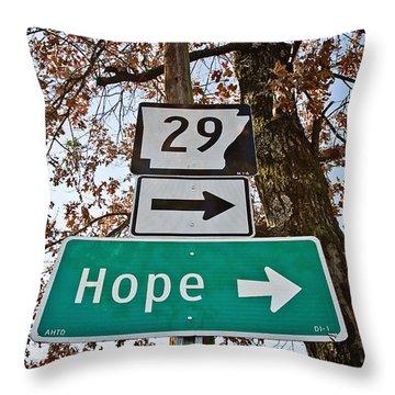 Hope Throw Pillow by Scott Pellegrin