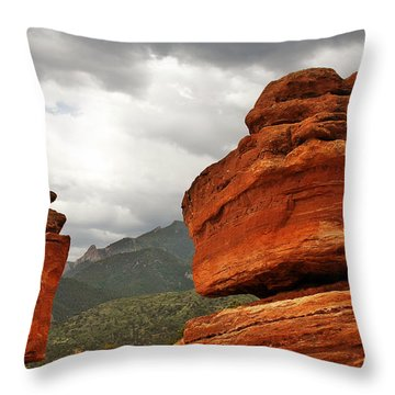 Hoping For Rain - Garden Of The Gods Colorado Throw Pillow by Christine Till