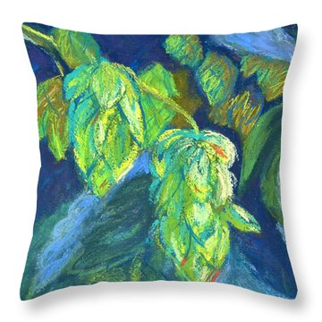 Hoppiness And Harmony Throw Pillow by Beverley Harper Tinsley