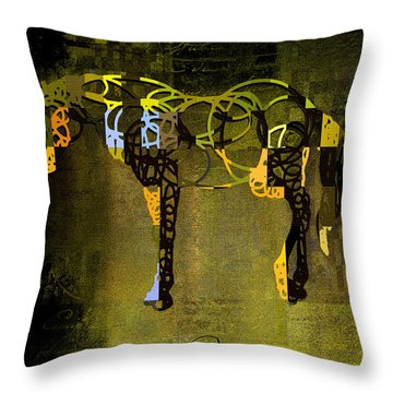 Horso - Sp085134243gr1tx Throw Pillow by Variance Collections