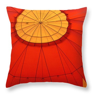 Hot Air Balloon At Dawn Throw Pillow by Art Block Collections