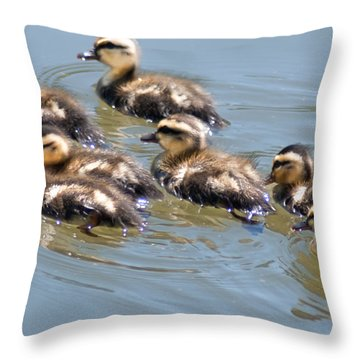 Hot Chicks Out For A Swim Throw Pillow by Optical Playground By MP Ray