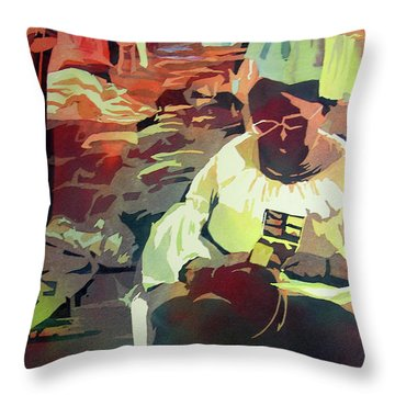 Hot Market Throw Pillow by Kris Parins