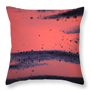 Hot Pink Puddle Throw Pillow by Karol Livote