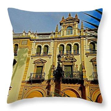 Hotel Alfonso Xiii - Seville Throw Pillow by Juergen Weiss