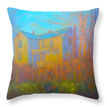 House In Blacksburg Throw Pillow by Kendall Kessler