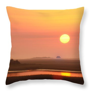 House Of The Rising Sun Throw Pillow by Jo Ann Tomaselli