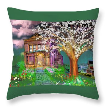 House On Milbert Street Throw Pillow by Gerry Robins