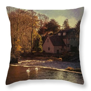 House On The River Throw Pillow by Amanda Elwell