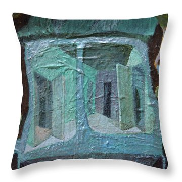 House On Wheels Throw Pillow by Nancy Mauerman