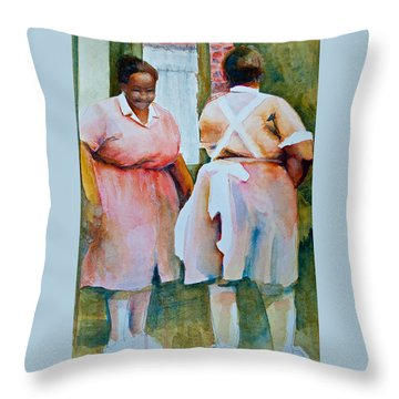 Housekeepers Of Soniat House Throw Pillow by Jani Freimann
