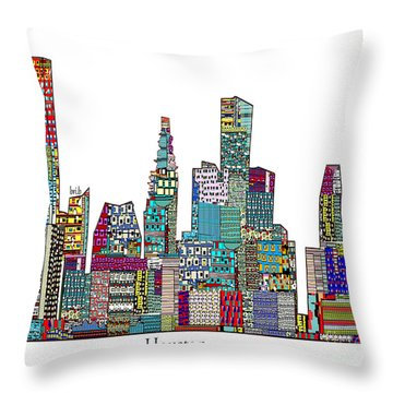Houston Throw Pillow by Bri B