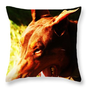 How Fast Can You Run Throw Pillow by PainterArtist FIN