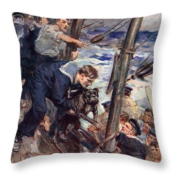 How Norah The Bulldog Was Saved Throw Pillow by Cyrus Cuneo