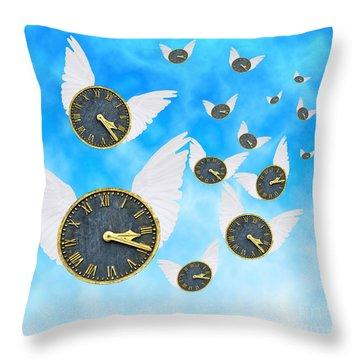 How Time Flies Throw Pillow by Juli Scalzi
