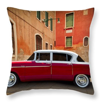 Hudson Wasp 1955 Throw Pillow by Debra and Dave Vanderlaan