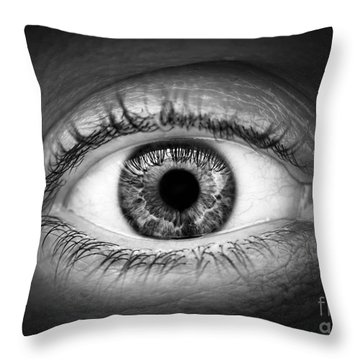 Human Eye Throw Pillow by Elena Elisseeva