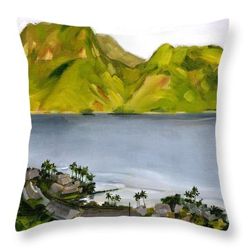 Humid Day In Pago Pago Throw Pillow by Douglas Simonson