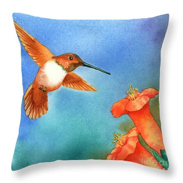 Hummer Throw Pillow by Tracy L Teeter