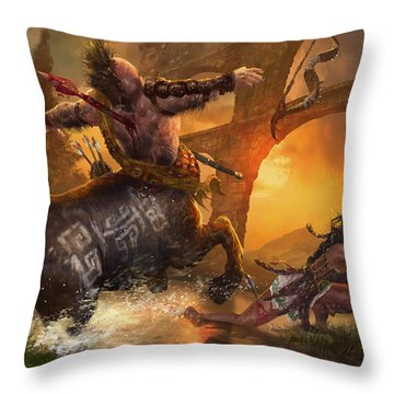 Hunt The Hunter Throw Pillow by Ryan Barger