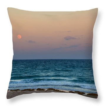 Hunter's Moon Throw Pillow by Michelle Wiarda