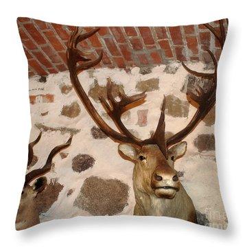 Hunting Trophys Throw Pillow by Rudi Prott
