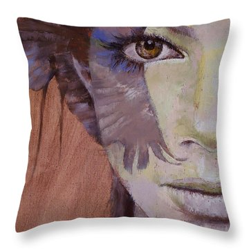 Huntress Throw Pillow by Michael Creese