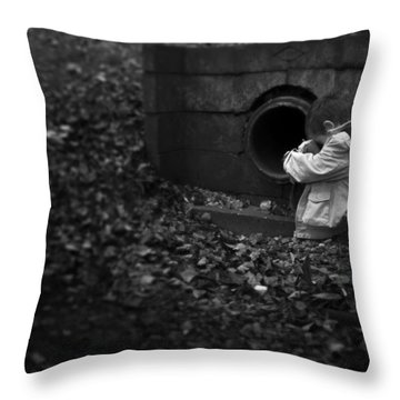 I Am Scared Throw Pillow by Svetlana Sewell