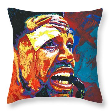 I Bleed Heat Throw Pillow by Maria Arango