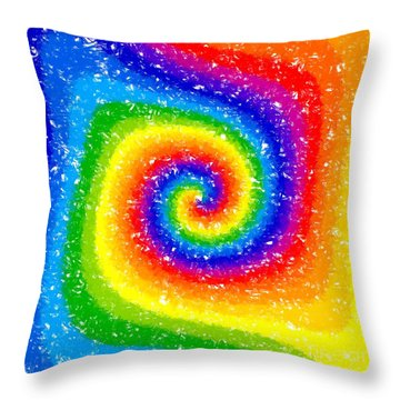 I Can See A Rainbow Throw Pillow by Chris Butler