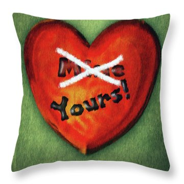 I Gave You My Heart Throw Pillow by Jeff Kolker