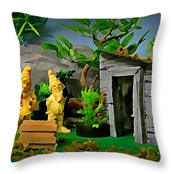I Guess Dopey Didn't Look Good On Their Lawn Throw Pillow by John Malone