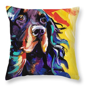 I Love Gordon Throw Pillow by Lea S